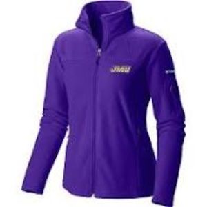 COLUMBIA JMU DUKES full zip fleece jacket Sz S